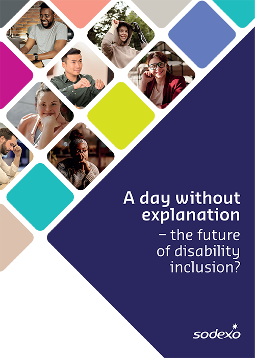 Visual of report cover: A day without explanation - the future of disability inclusion